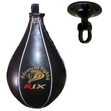Rix Leather Speedball & Swivel Boxing Punch Bag Punching Training MMA Speed Ball