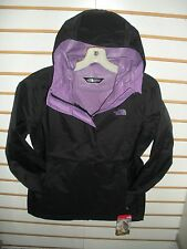 THE NORTH FACE WOMENS VENTURE WATERPROOF JACKET -A8AS-BLACK/ PURPLE - S, M