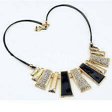 Hot Lady Jewelry Sector Pendant Crystal Chain Sector Necklace Make Fashion New