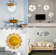 4 Style DIY Wall Decal Removable Vinyl Mirror Stickers Decor Home Bathroom