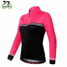 Women Cycling Bicycle Riding Coats Windproof Red Jackets Outdoor Sports Jerseys