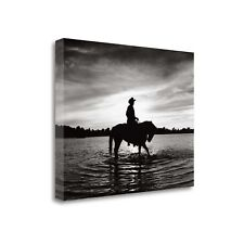 'Silhouettes at Sunset' by Monte Nagler Graphic Art on Wrapped Canvas
