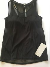 NWT Lululemon Light N Breezy Tank 2-in-1 Support Top Sz 10 and 12 Black Mesh