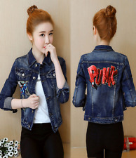 Embroidered Phoenix Neoprene Bomber Jacket Womens Coat Oriental Moto Embroidery