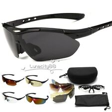UV400 Professional Cycling Glasses Outdoor Goggles Bike Sport Sunglasses+4 Lens