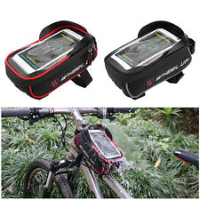 Waterproof Bicycle Bike Cycling Front Frame Tube Handlebar Bag For Cell Phone GD
