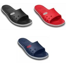 Crocs Crocband LoPro Slide Sandals - Black Blue Red - New and authentic
