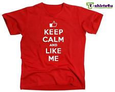 KEEP CALM LIKE ME Chive Chivery KCCO Facebook Post Spoof Funny T-Shirt NEW Red