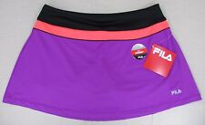 FILA Women's Performance Colorblock Skirt Skort Purple Large, XL NEW NWT