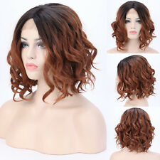 "14"" Short Wigs Lace Front Wig Glueless Heat Resistant Synthetic Hair Full Wig US"