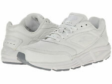 BROOKS ADDICTION WALKER 2E WIDE LEATHER WHITE MENS SHOES    ** BEST SELLER