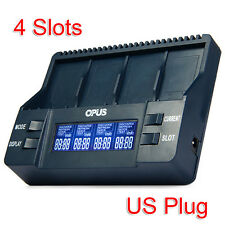 Multifunctional 4 Slot Digital LCD  Battery Charger EU/US Plug wholesale