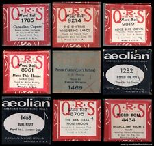 ASSORTMENT  QRS/ AEOLIAN  PLAYER PIANO'S MUSIC ROLLS SOLD INDIVIDUALLY