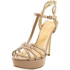 Sergio Rossi A74170 Women  Open Toe Patent Leather Nude Sandals