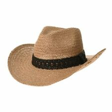 WITHMOONS Western Cowboy Hat Cool Paper Straw Banded Chin Strap GN8747