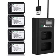 NP-FW50 Battery LCD USB Dual Charger for Sony Alpha 7R A3000 A5000 A6000 NEX-7