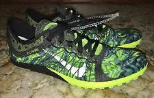 NIKE Zoom Victory Waffle 3 Black Volt Cross Country Spikeless Shoes Mens Sz 7.5