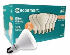 Qty 6 to 48-  EcoSmart 65w Soft White BR30 Dimmable LED Light Bulb