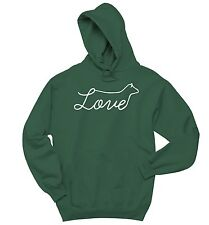 Love Cow Graphic Sweatshirt Country Cowgirl Calf Redneck Gift Hoodie