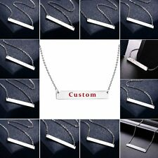Silver Stainless Steel Bar Star Sign Constellation Charm Pendant Chain Necklace