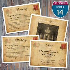Personalised Vintage Wedding / Evening Invitations / Save the Date / Website