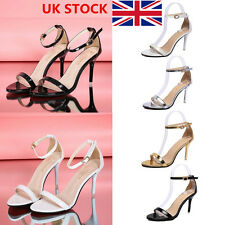 UK Womens Ladies Block Ankle Strap Slingbacks Casual Party High Heels Shoes Size
