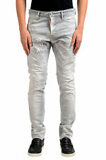 "Dsquared2 Men's ""Cool Guy Jean"" Long Crotch/ Tight Bottom Gray Jeans Sz 30 32 36"