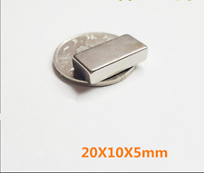 N35 Super Strong Block NdFeb Magnets Rare Earth Neodymium 20 x 10 x 5 mm