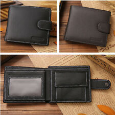 Mens Business ID Credit Card Wallet Holder Leather Pocket Case Money Clip Purse