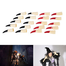 10pcs Zombie Fake Fingers Witch Nail Set Cover Halloween Prop Party DecorationOZ