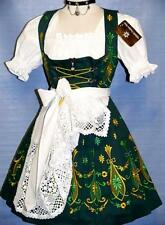 Dirndl Oktoberfest Swing Garden German Dress EMBROIDERED Short 3 pc COMPLETE SET