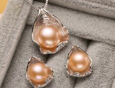 Pearl Jewelry,pearl pendant Jewelry Sets for Women Pearl Necklace/Earring