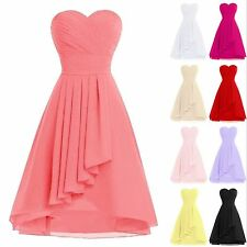 Sweetheart Short Bridesmaid Dress Chiffon Prom Party Formal School Evening Gowns