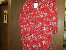 NFL-TAMPA BAY BUCCANEERS-MEN'S RED SHIRT-SHORT SLEEVE-BUTTON DOWN-W/ GRAPHICS