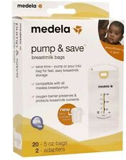 20 Or 50 Count MEDELA Pump & And Save Freezer Storage Breastmilk Bags w/Adapters