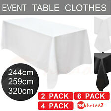Tablecloths 2 4 6 Pack Table Cloth Rectangle Party Black White Trestle Event New