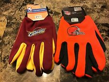 NFL NBA Cleveland Browns Cavs Sport Team Utility Grip Gloves - Pick Your Team
