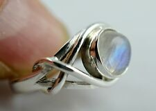 Rainbow Moonstone Ring 925 Solid Sterling Silver Handmade Ring Size F to Z1/2 AU