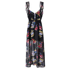 Spring/Summer Women's Fashion Backless Floral Printing Elegance Gallus Dress