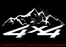 4X4 MOUNTAIN RANGE SOLID VINYL DECALS FITS:CHEVY GMC DODGE FORD NISSAN TOYOTA