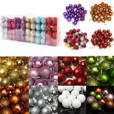 24pcs 30mm Fashion Christmas Xmas Tree Ball Bauble Hanging Party Ornament Decor