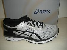 ASICS MENS GEL-KAYANO 24 RUNNING SNEAKERS-SHOES-T749N-9390-SILVER/ BLACK/ M GREY
