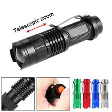 3500 LM CREE Q5 14500 AA 3 Modes ZOOM LED Flashlight MINI Police Torch Lamp TR
