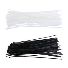100Pcs Nylon Releasable Cable Tie Zip Wraps Ratchet Ties Wire 4.8x400mm