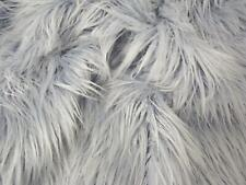 Super Luxury Faux Fur Fabric Material - EXTRA LONG PALE BLUE