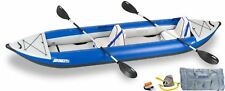 NEW Sea Eagle 420XKDT Inflatable Explorer Deluxe Kayak Package for 2 Persons