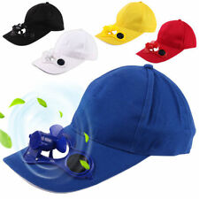 Camping Peaked Cap with Solar Powered Fan Summer Baseball Golf Cooling Fan Cap
