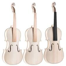 New 4/4 Size Natural Solid Wood Acoustic Violin DIY Kit Set+Free Ship Xmas Gift