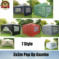 Big Sale Waterproof 3x3m Pop Up Gazebo Marquee Garden Awning Party Tent Canopy