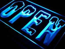 i198-b OPEN Cold Shop Cafe Bar Club Neon Light Sign